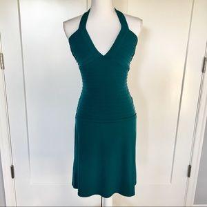 Max & Cleo | Teal Halter Top Dress Size 2